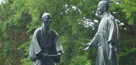 細井平洲先生上杉鷹山公 敬師の像